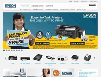 epson.co.in screenshot