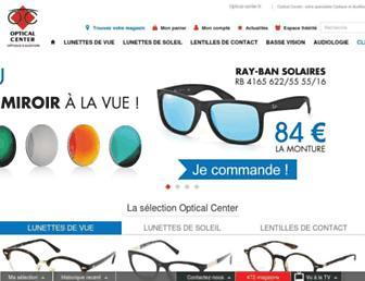 Main page screenshot of optical-center.eu