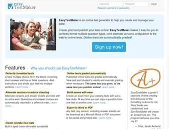 Thumbshot of Easytestmaker.com