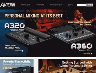 aviom.com screenshot