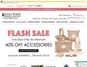 annsbridalbargains.com screenshot