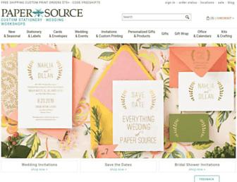 papersource.com screenshot