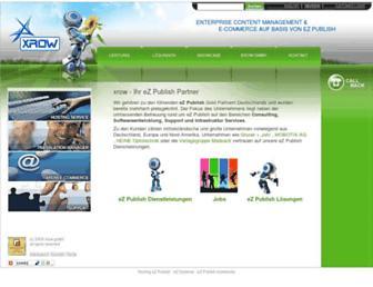 Main page screenshot of xrow.de