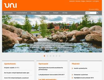 Main page screenshot of uni.lut.fi
