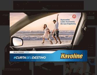 Main page screenshot of vejario.abril.com.br