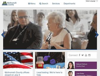 Main page screenshot of web.multco.us