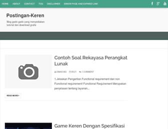 postingan-keren.blogspot.com screenshot