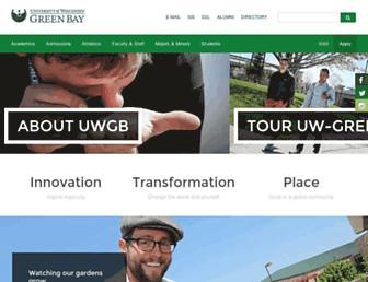 Main page screenshot of uwgb.edu