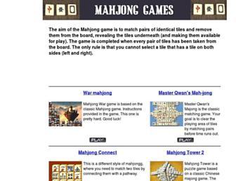 playmahjonggame.com screenshot