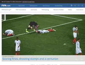fifa.com screenshot