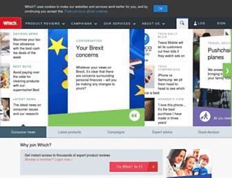 which.co.uk screenshot
