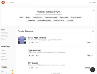 producthunt.com screenshot