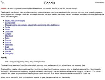 fondu.sourceforge.net screenshot