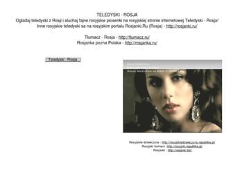 Main page screenshot of teledyski-rosja.sitecity.ru