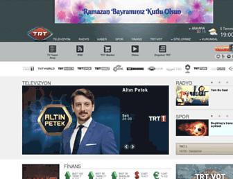 Main page screenshot of trt.net.tr