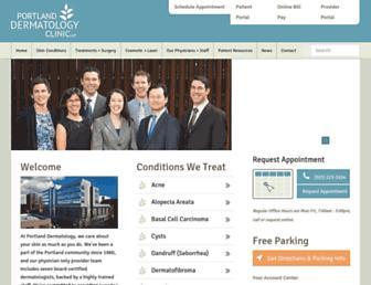 portlanddermclinic.com screenshot