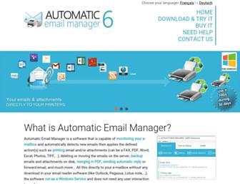 automatic-email-manager.com screenshot