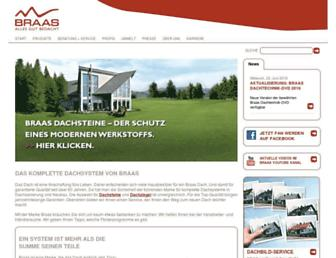 Main page screenshot of braas.de
