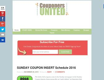 Thumbshot of Couponersunited.com