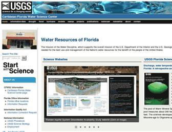 fl.water.usgs.gov screenshot