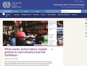 Main page screenshot of ilo.org