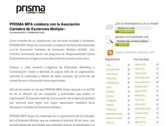 Main page screenshot of agencias-publicidad.es