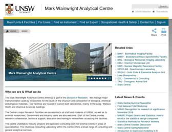 analytical.unsw.edu.au screenshot