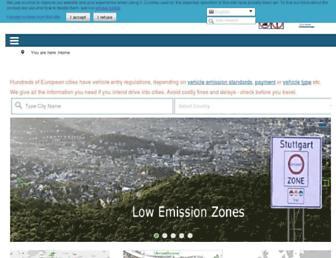urbanaccessregulations.eu screenshot