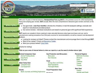 backpackgeartest.org screenshot