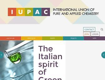 Thumbshot of Iupac.org