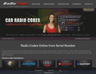 radio-code.co.uk screenshot