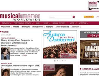 musicalamerica.com screenshot