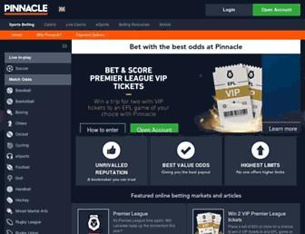 pinnacle.com screenshot