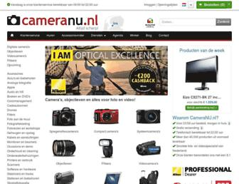Main page screenshot of cameranu.nl