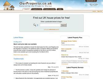 Thumbshot of Ourproperty.co.uk