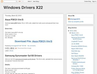 windows-drivers-x22.blogspot.com screenshot