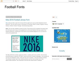 footballfont.blogspot.com screenshot