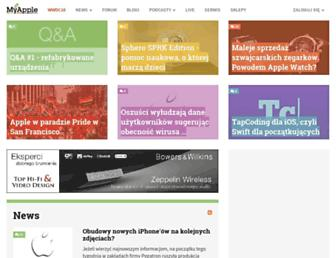 Main page screenshot of myapple.pl