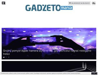 Main page screenshot of gadzetomania.pl