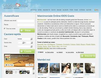 Main page screenshot of matrimoniale.ro