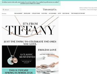 tiffany.es screenshot