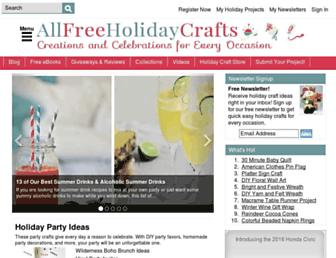 Screenshot for allfreeholidaycrafts.com