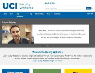 faculty.sites.uci.edu screenshot