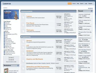 forum.lazarus.freepascal.org screenshot