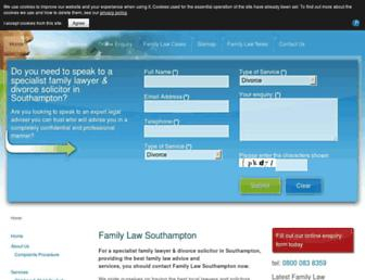familylawsouthampton.co.uk screenshot