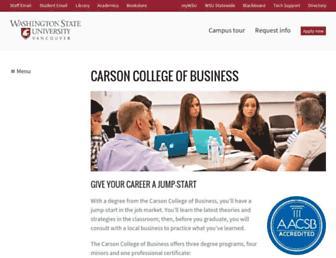 business.vancouver.wsu.edu screenshot