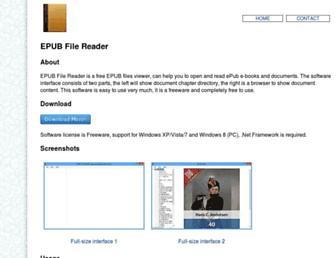 epubfilereader.com screenshot