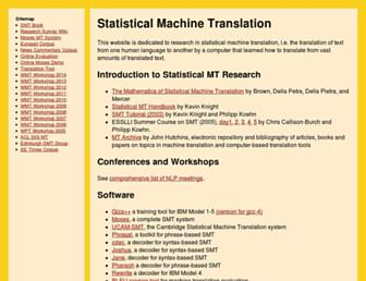 statmt.org screenshot