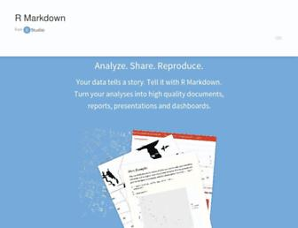 rmarkdown.rstudio.com screenshot