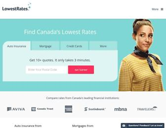 lowestrates.ca screenshot